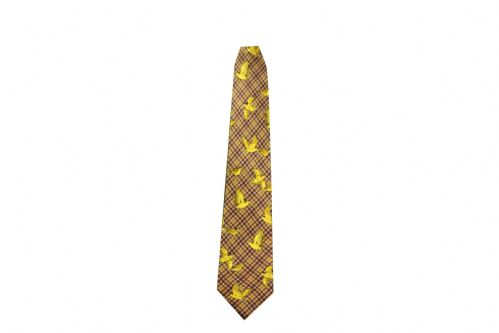Bisley Silk Tie - Brown Woodcock (JR-BIT27)